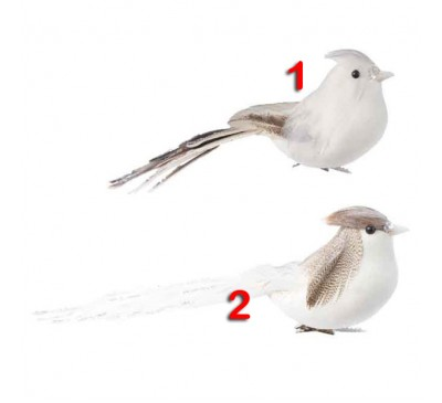 Feather Bird with tail on clip 2 to choose from