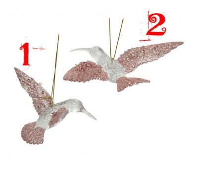 Assorted Plastic Hummingbirds with Glitter
