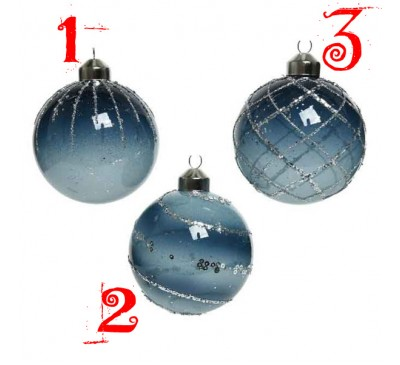 Luxury Glass Baubles Assorted