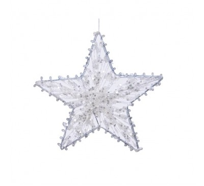 Star with Glitter and Rope