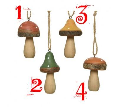 Mushroom pinewood Hangers Assorted