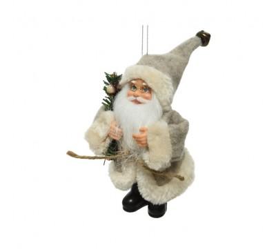 White Santa with Branch