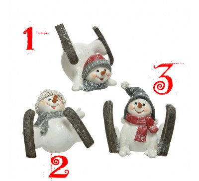 Assorted Skiing Snowmen
