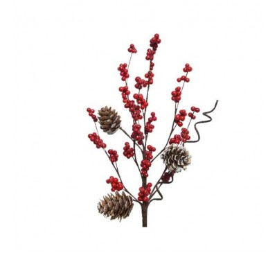 Natural  Effect Spray With Berries and Pine Cone