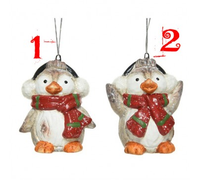 Terracotta Penguin with Scarf Assorted