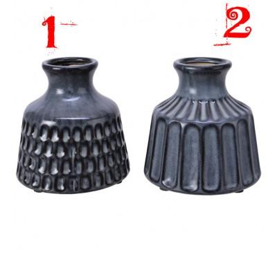 Anthracite Stoneware Vase