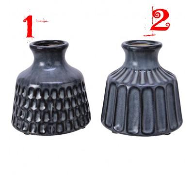 Assorted Anthracite Stoneware Vases