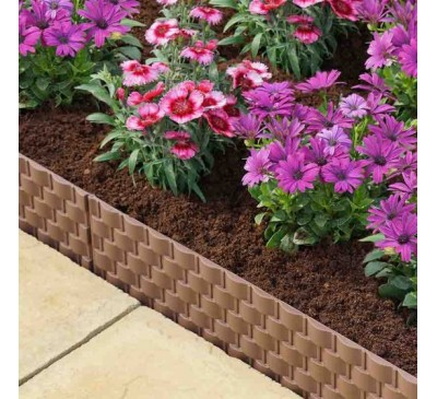 Smart Garden Faux Rattan Edging 22cm x 2.4m