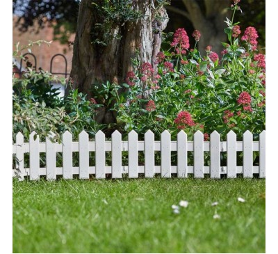 Smart Garden Faux Picket Fence 20cm x 1.6m