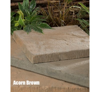 Riviera Acorn Brown Paving Slab 450mm x 450mm