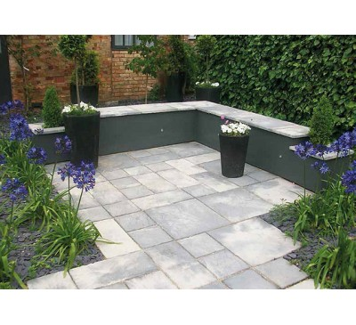 Bronte Weathered Stone 7.6m2 Patio Kit