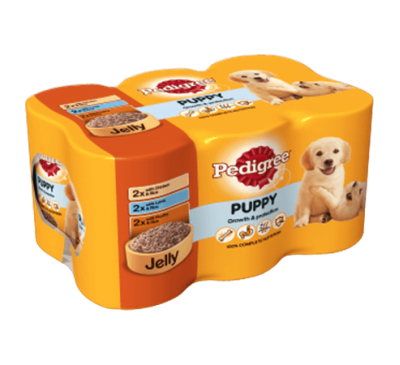 PEDIGREE® Puppy Tins Mixed Selection in Jelly 6x400g