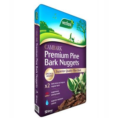 Cambark Premium Pine Bark Nuggets 50ltr