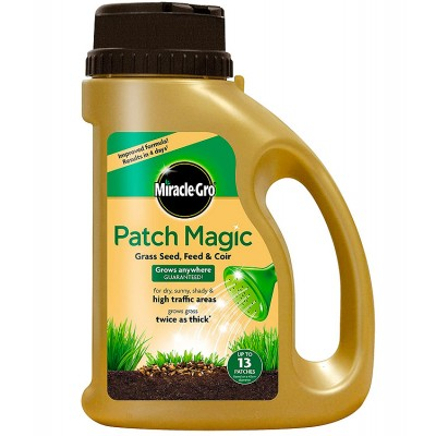 Lawn Essential - Miracle-Gro Patch Magic Grass Seed, Feed & Coir 1015g
