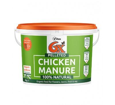 Vitax 6x Pelleted Chicken Manure 8kg