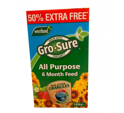 Westland Gro-Sure All Purpose Soluble Plant Food 50% FREE 1.65kg