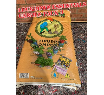 Lockdown Essentials Garden Pack 3 Contains 2 Compost Bag