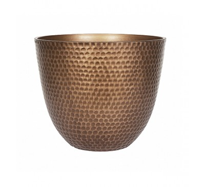 Gold Metal Effect Plant Pot Large