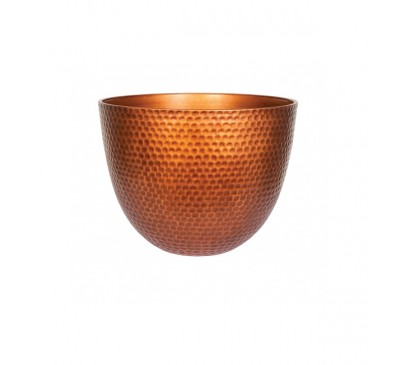 Copper Metal Effect Plant Pot Small