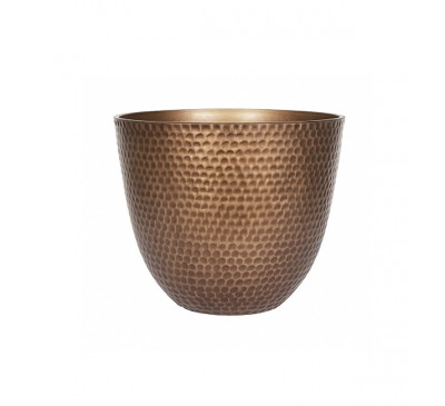 Gold Metal Effect Plant Pot Small