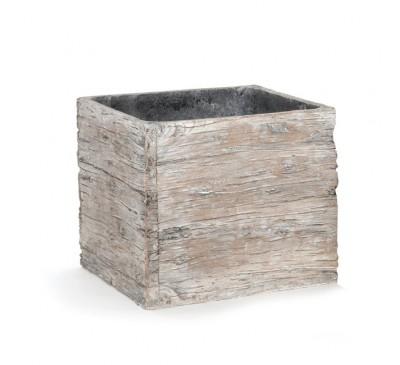 Woodlodge 19cm Driftwood Square Pot