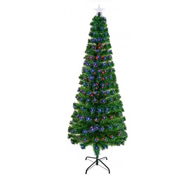 1.5m Slim LED Star Tree with Colour Changing LED's
