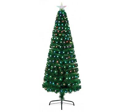 1.2m Fibre Optic Tree with Colour Change Ball Decoration
