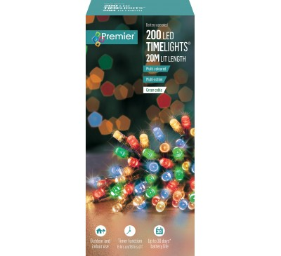 200 Multi-Action Battery Operated Multi-Colour LED With Timer