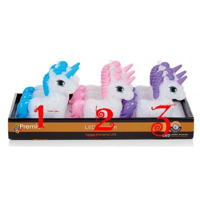 13cm Colour Changing Unicorn Pink-Blue-Purple