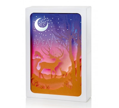 14cm Diorama -Reindeer Scene