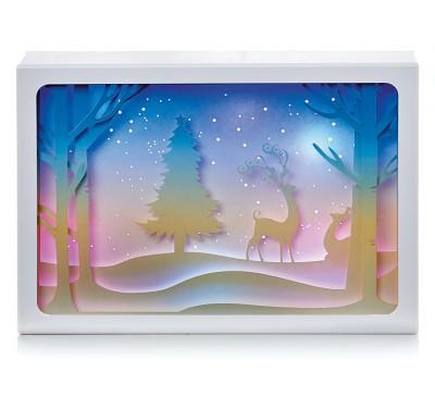 21cm Diorama -Reindeer Scene