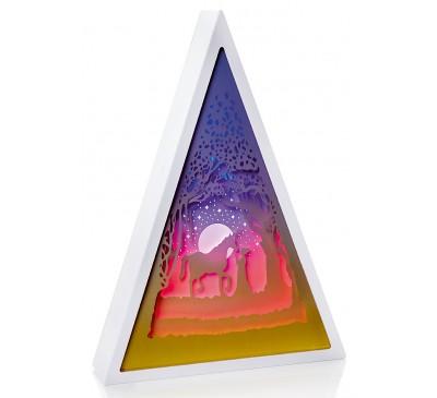 30cm Triangle Diorama-Unicorn Scene