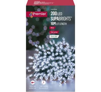 200 Multi-Action LED Supabrights Timer White