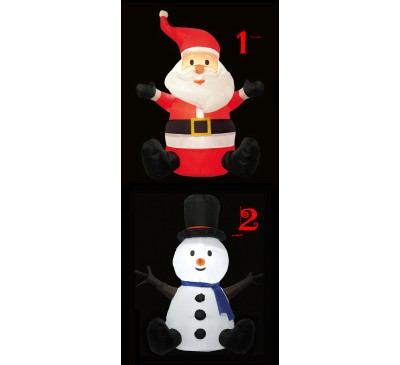 1.1m Inflatable Christmas Character Assorted