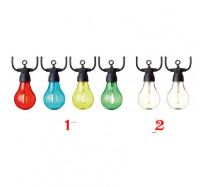 10L Connectable Lights A60 Bulb -24pc Multi - 24pc Warm White