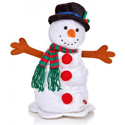 35cm Springy Light Up Snowman with Music