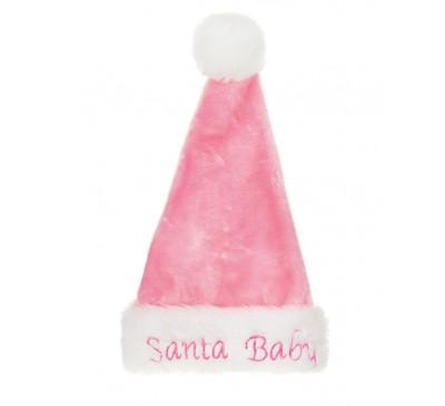 48cm Deluxe Santa Baby Hat Pink
