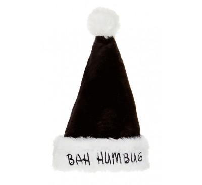 48cm Deluxe Bah Humbug Hat Black