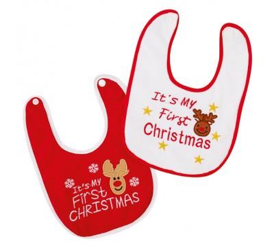 My 1st Christmas Bib 2  Designs