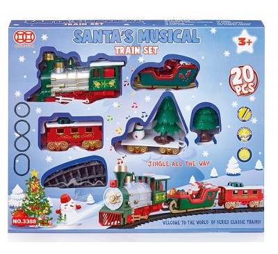 20pc Battery Operated Christmas Train Set with Music - Jingle Bells