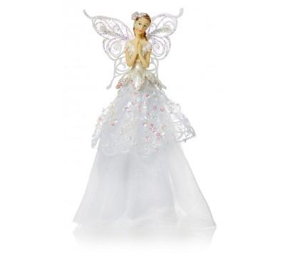 23cm White Tree Top Angel