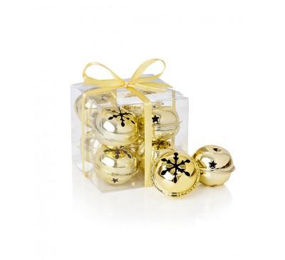 Gold Snowflake Jingle Bells