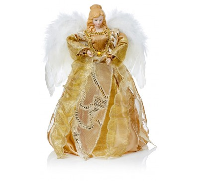 30cm Gold Top Angel with Wings
