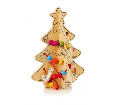16x12cm Colour-Decorate Your own Christmas Tree Kit