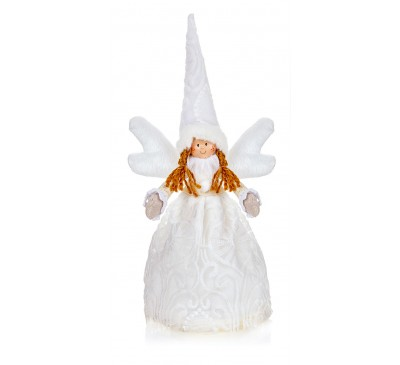35cm White Lace Angel Tree Topper