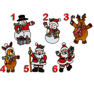 15x10cm 6 Assorted Santa Snowman to choose from