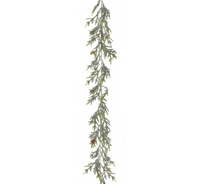 160cm Green Spruce Garland with Frosting