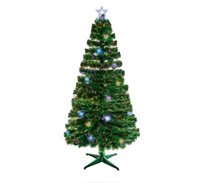 1.8M Green Parcel LED Christmas Tree with Red, Green and Blue Parcels: 220 Tips