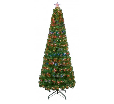 1.5m Slim Led Star Christmas Tree with Colour Changing LEDs