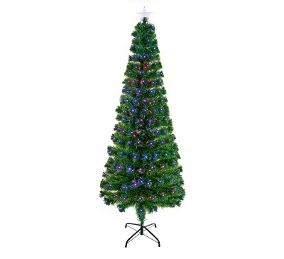 1.8m Slim Led Star Christmas Tree with Colour Changing LEDs